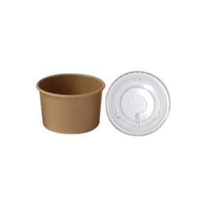 BIO Kraft Sauce Cup 100ml 3oz and Lid