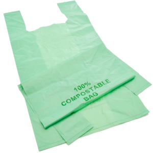 Compostable Shopping Bag(240+55X2) X 400mm