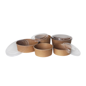 BIO Kraft Salad Salad Bowls and Lids