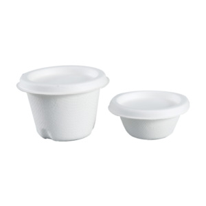 Sugarcane Sauce Cups and Lids (2oz 60ml, 4oz 120ml)