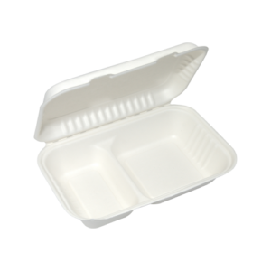 Sugarcane Clamshell 2-Compartment 950ml
