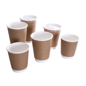 BIO Double Wall Kraft Coffee Cups