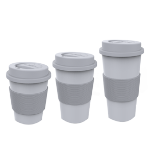 CPLA Coffee Cups With Silicone Lids and Sleeves