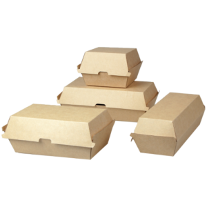 Corrugated Cardboard Burger Boxes (6 sizes)