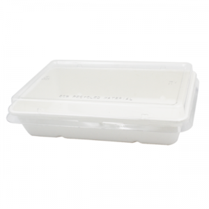 Sugarcane Menu Box 800ml with PLA Lid